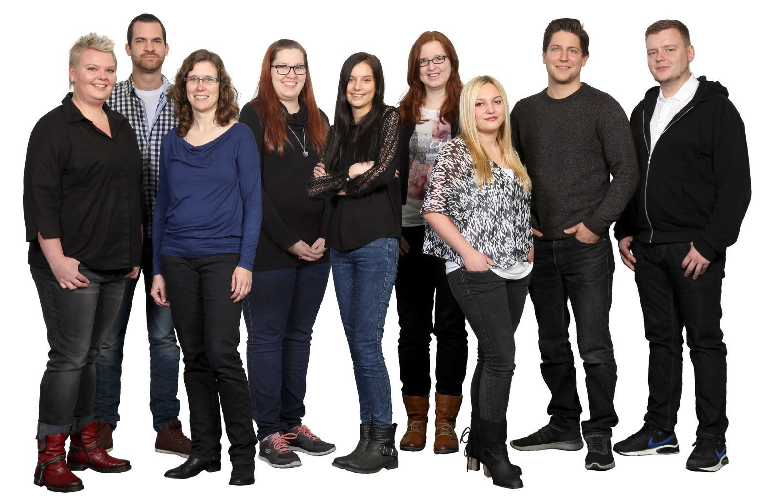 Gruppenfoto vom Kreativteam