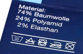 Textilpflegesymbole Pflege-Etikett