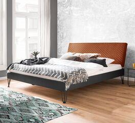 Trendiges Bett Vegeta mit Stoffkopfteil