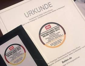 Urkunde Betten.de - Preisträger n-tv 2018