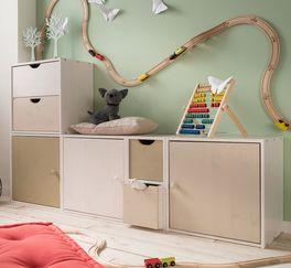 Würfelsystem Kids Paradise Laubhütte an jedes Raumkonzept anpassbar