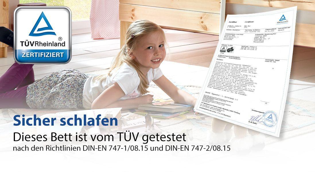 TÜV geprüfte Kindermöbel mit GS-Siegel
