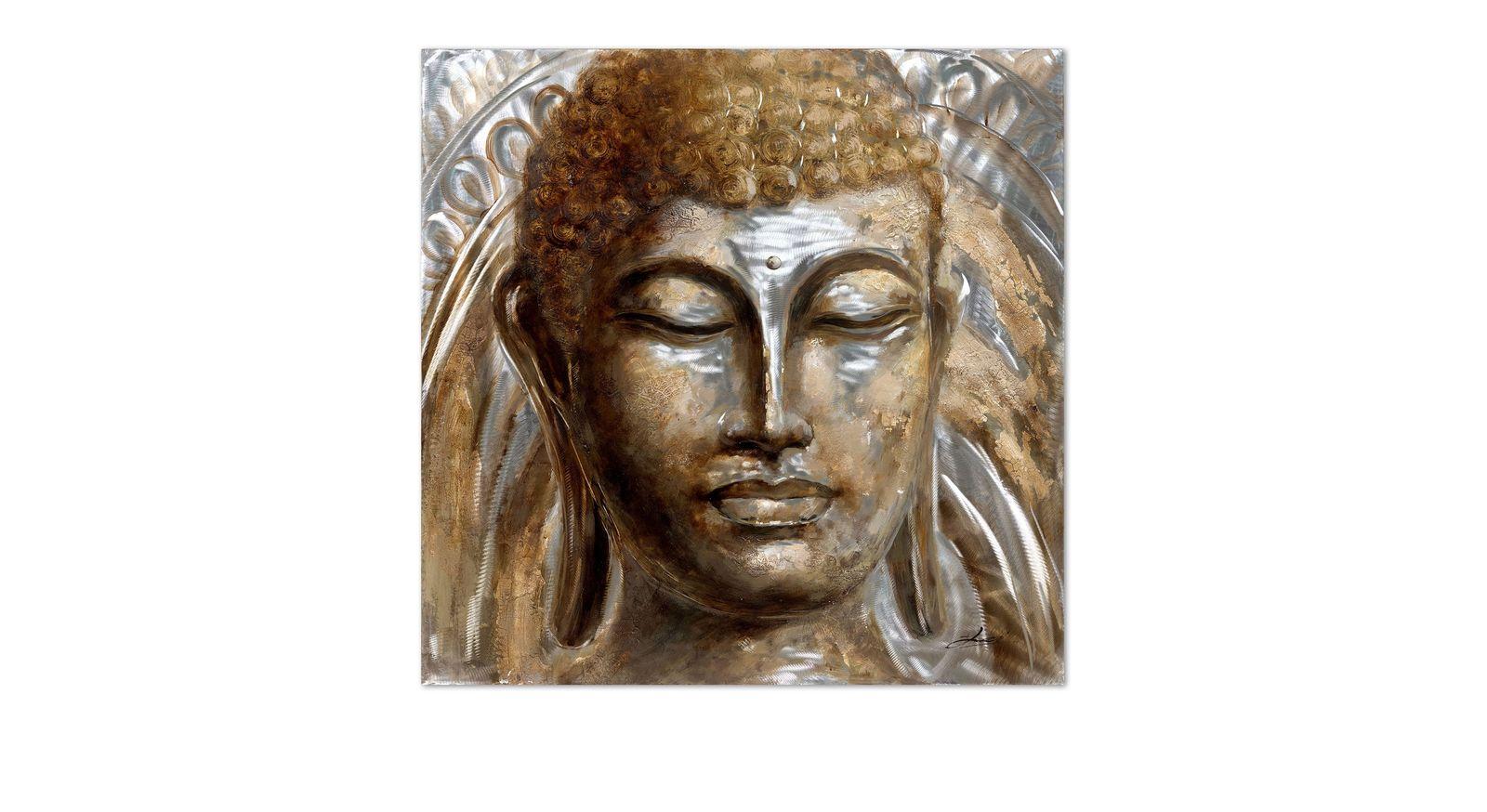 Hochwertiges Wandbild Buddha in extravagantem Design