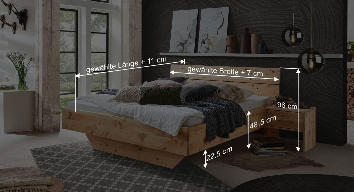 Bemaßunsgrafik zum Bett Lautaro