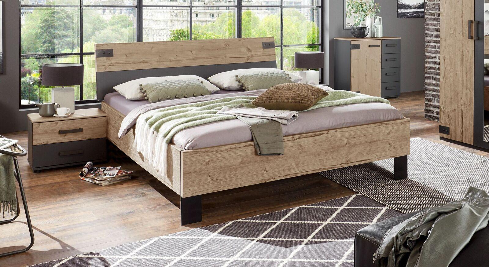Zweifarbiges Bett Midori im Factory-Style
