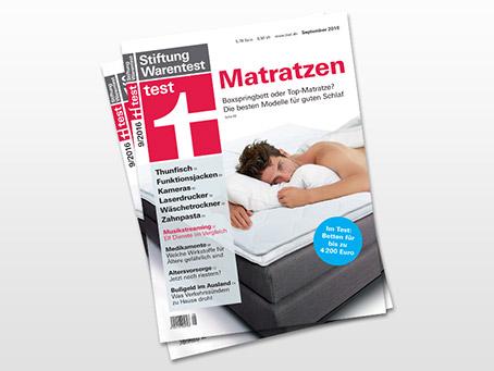 Stiftung Warentest von Matratzen in 2016 - Reaktion