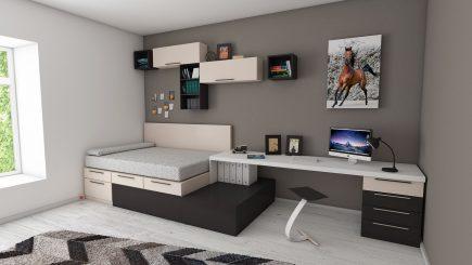 Wohnideen und Tipps zur Einrichtung von Schlafzimmern für Studenten bzw. Studentenzimmern - mehrere Funktionen in einem Raum untergebracht